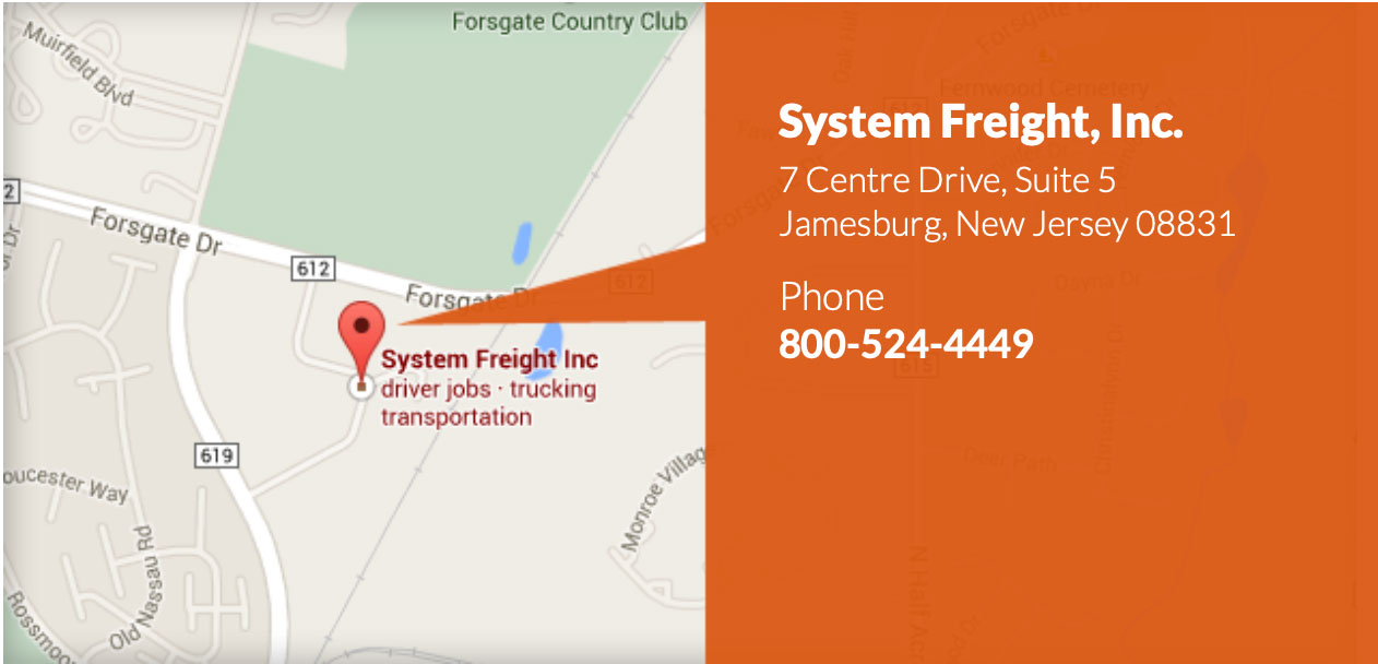 System Freight Map Callout
