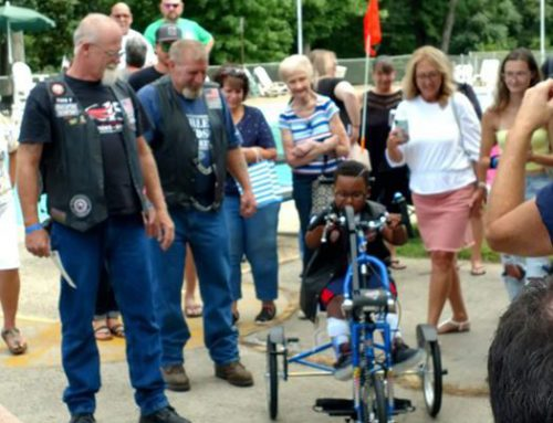 System Freight Driver Presents Special Needs Child with a Custom Bike
